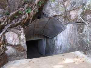 Vieng Xay - entering the well protected cave system
