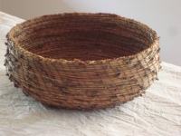 Basket - stitched pine needles (Sally Roadknight)